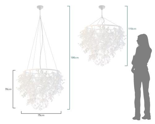 ペーパーフォレスティグランデ ペンダントランプ 大きさ比較