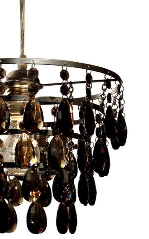 Gala chandelier black smoke