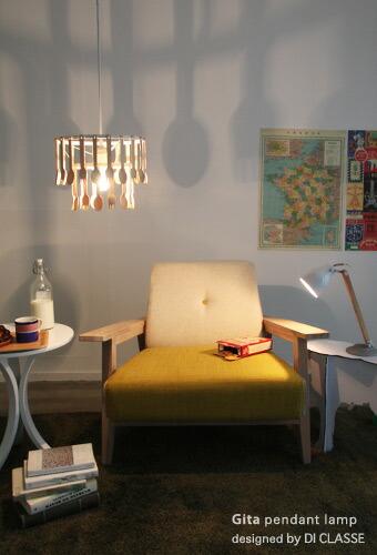 Gita pendant lamp & Falun desk lamp