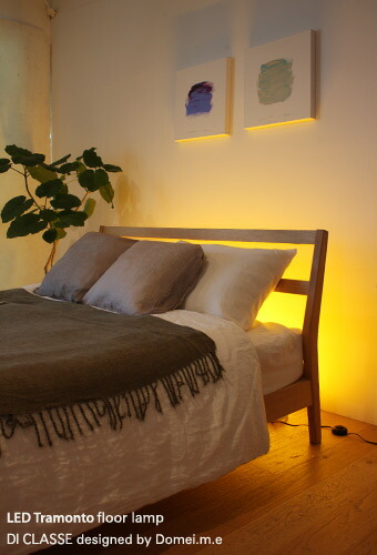 LED Tramonto floor lamp×bed room