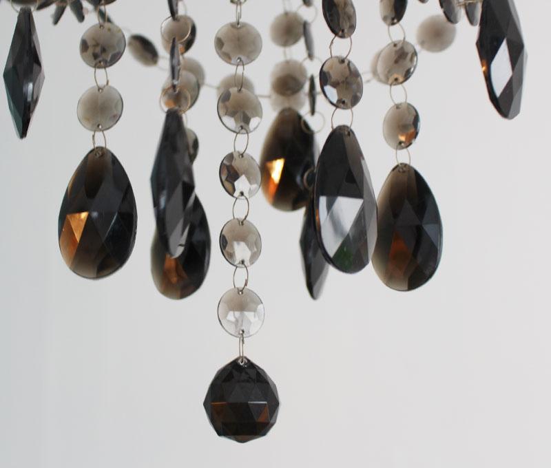 Maestro-black chandelier アクリルビーズ
