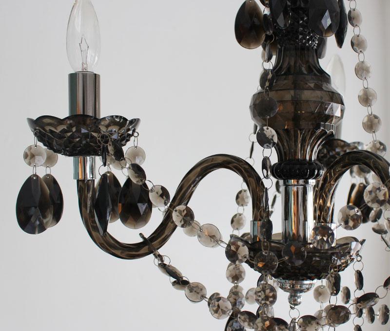 Maestro-black chandelier