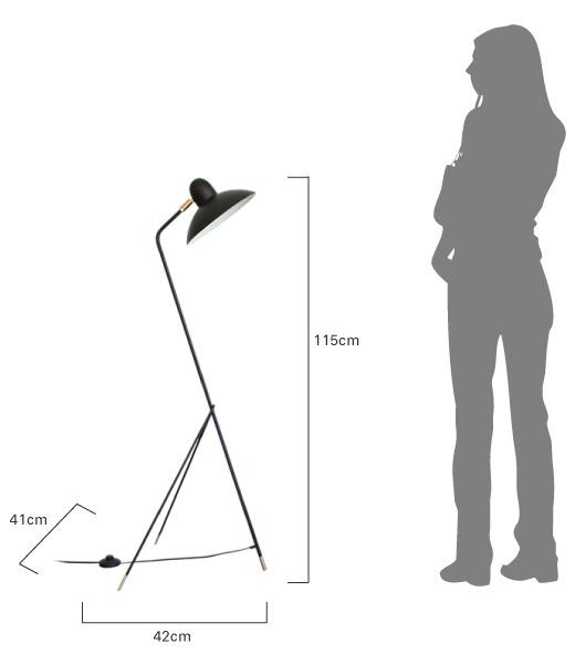 アルル フロアランプ  商品のサイズ