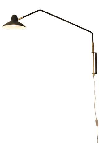 Arles wall lamp black