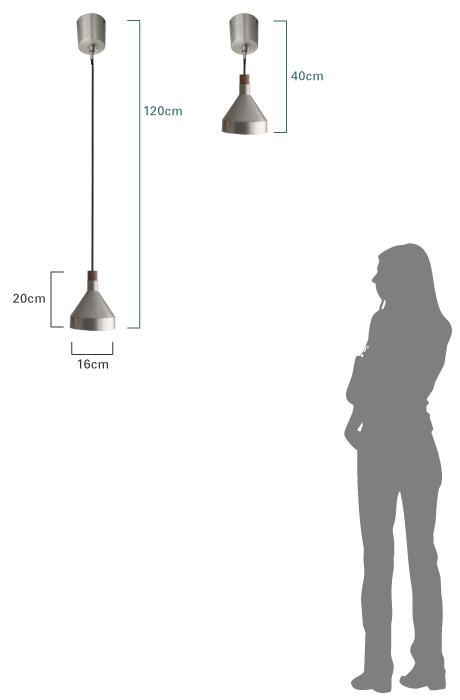 カミーノ ペンダントランプ 大きさ比較画像