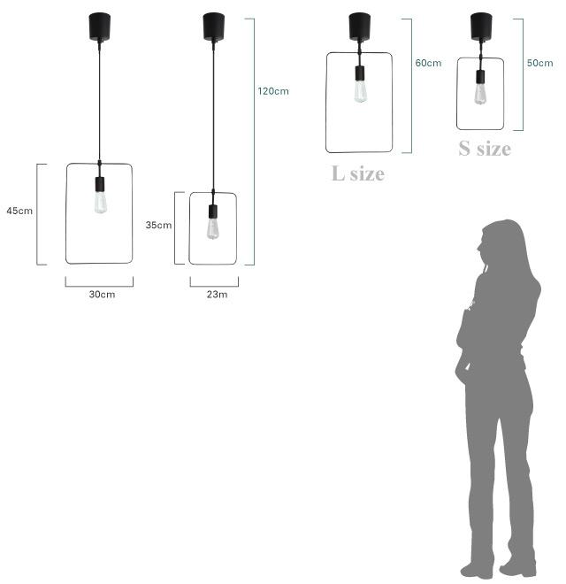 シェナーリオ ペンダントランプ 大きさ比較画像