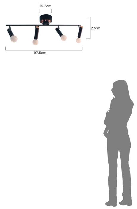 シガロ フラット4 シーリング ランプ 比較画像
