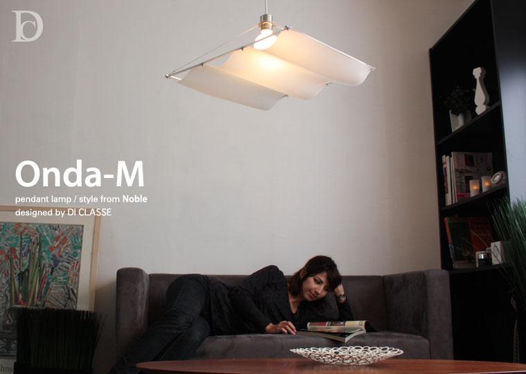 Onda-M white pendant lamp