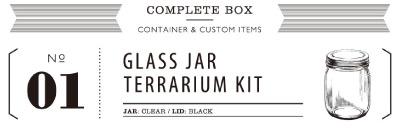 GLASS JAR TERRARIUM KIT 01