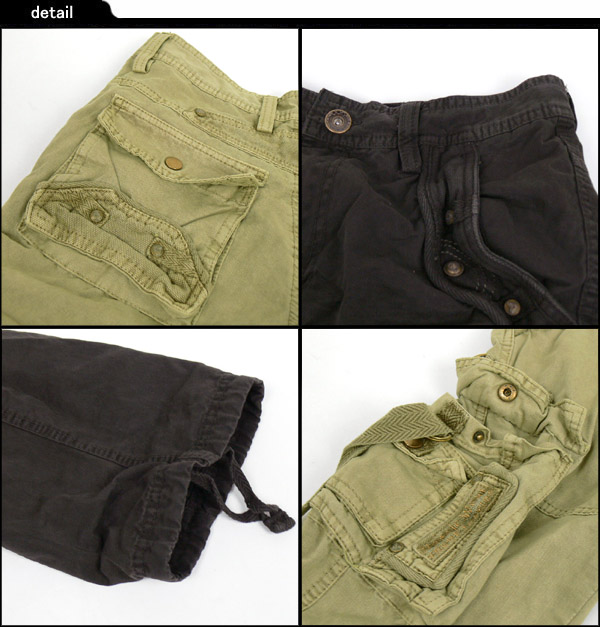B.W.CHENG 2連ポケットカーゴパンツ