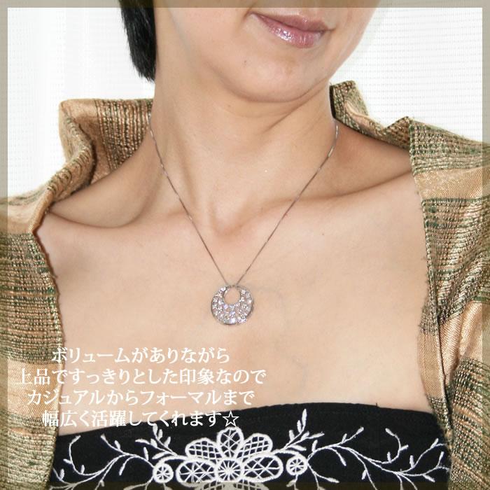 K18WG/K18/K18PGTHJFloatingDiamondsネックレスD1.0ctダイヤモンド専門店THJmodel