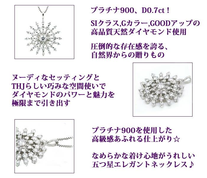 Pt900THJクリエーションネックレス0.7ctダイヤモンド専門店THJ。