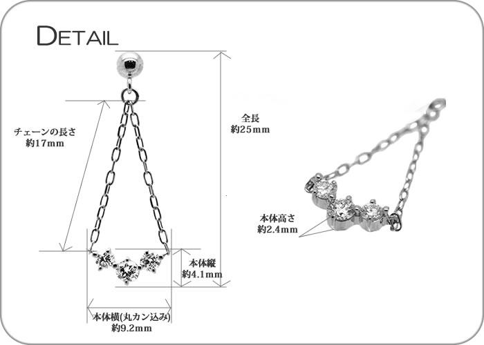 K18 THJ ヴィクトリアンピアス0.3ct ~Chain of Happiness〜幸せの連鎖spec