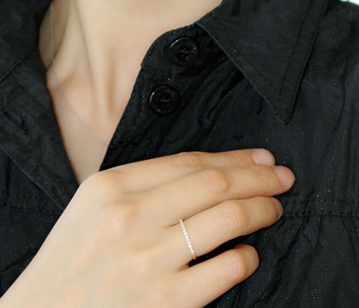 ダイヤモンドの生命線である「輝き」と、フォルムの美しさににこだわったTHJの「美」エタニティリングD0.15ctmodel4