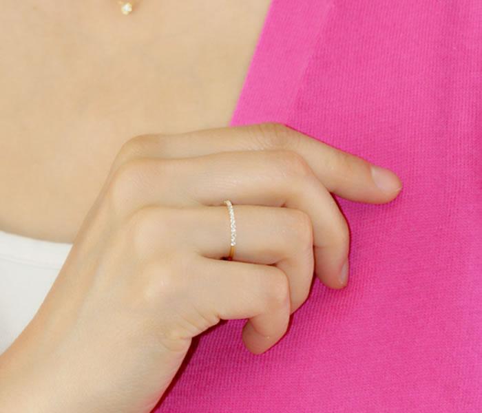 ダイヤモンドの生命線である「輝き」と、フォルムの美しさににこだわったTHJの「美」エタニティリングD0.15ctmodel3