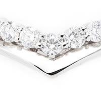 プラチナ900無色透明SIクラス/GカラーUPダイヤモンド VLineエタニティリング D0.5ct  ダイヤモンド専門店THJ