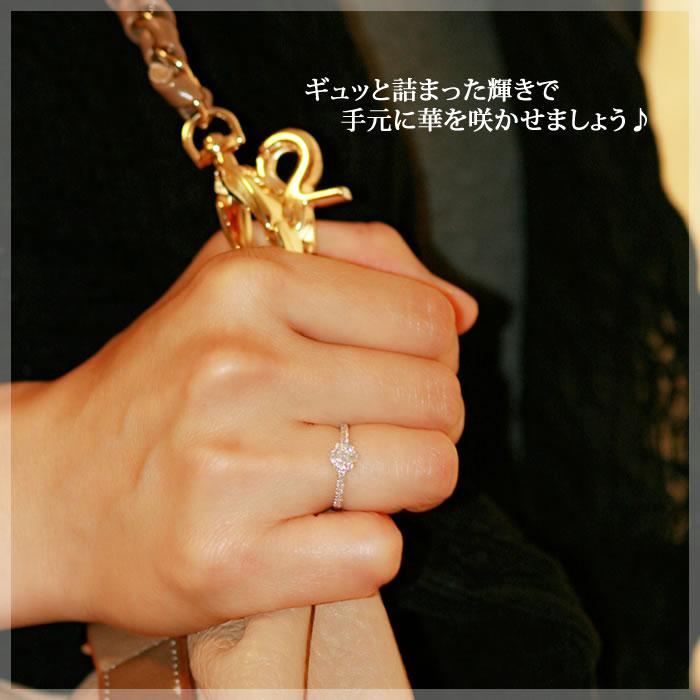 ギュッと詰まった輝きで、手元に華を咲かせましょう!THJ Floraリング D0.5ct ダイヤモンド専門店THJ