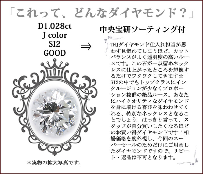 ダイヤモンドの特徴1.028ct