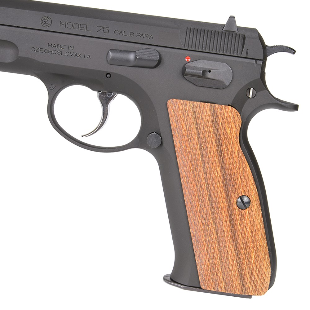 Carom shot wood grips rosewood full checking for CZ75 gun custom parts  custom grips