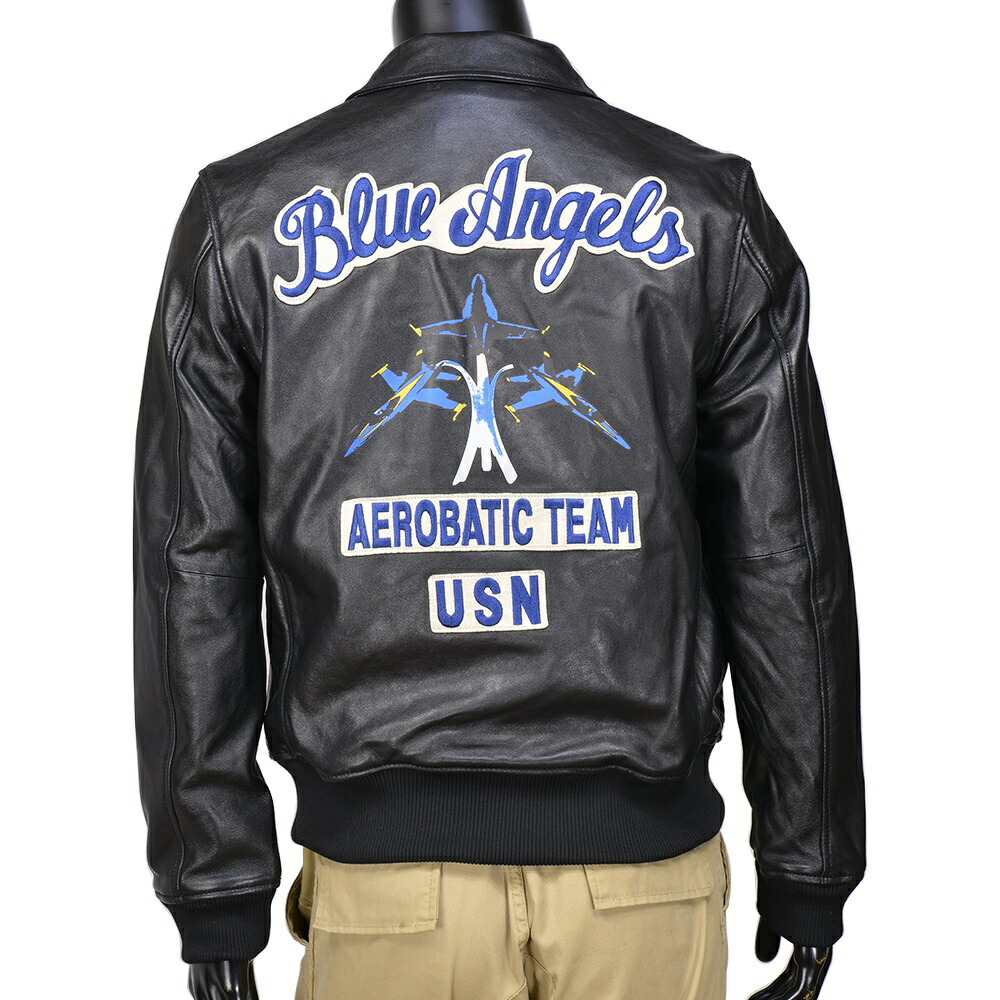 Reptile | Rakuten Global Market: AVIREX leather jacket Blue Angels ...