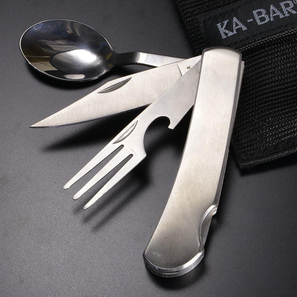 KA-BAR 折りたたみ式カトラリー Hobo マルチツール ナイフ 栓抜き フォーク スプーン