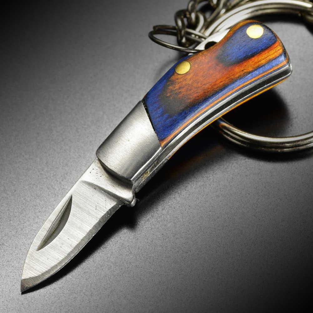 キーホルダーナイフ 折りたたみ式 ミニナイフ 小型