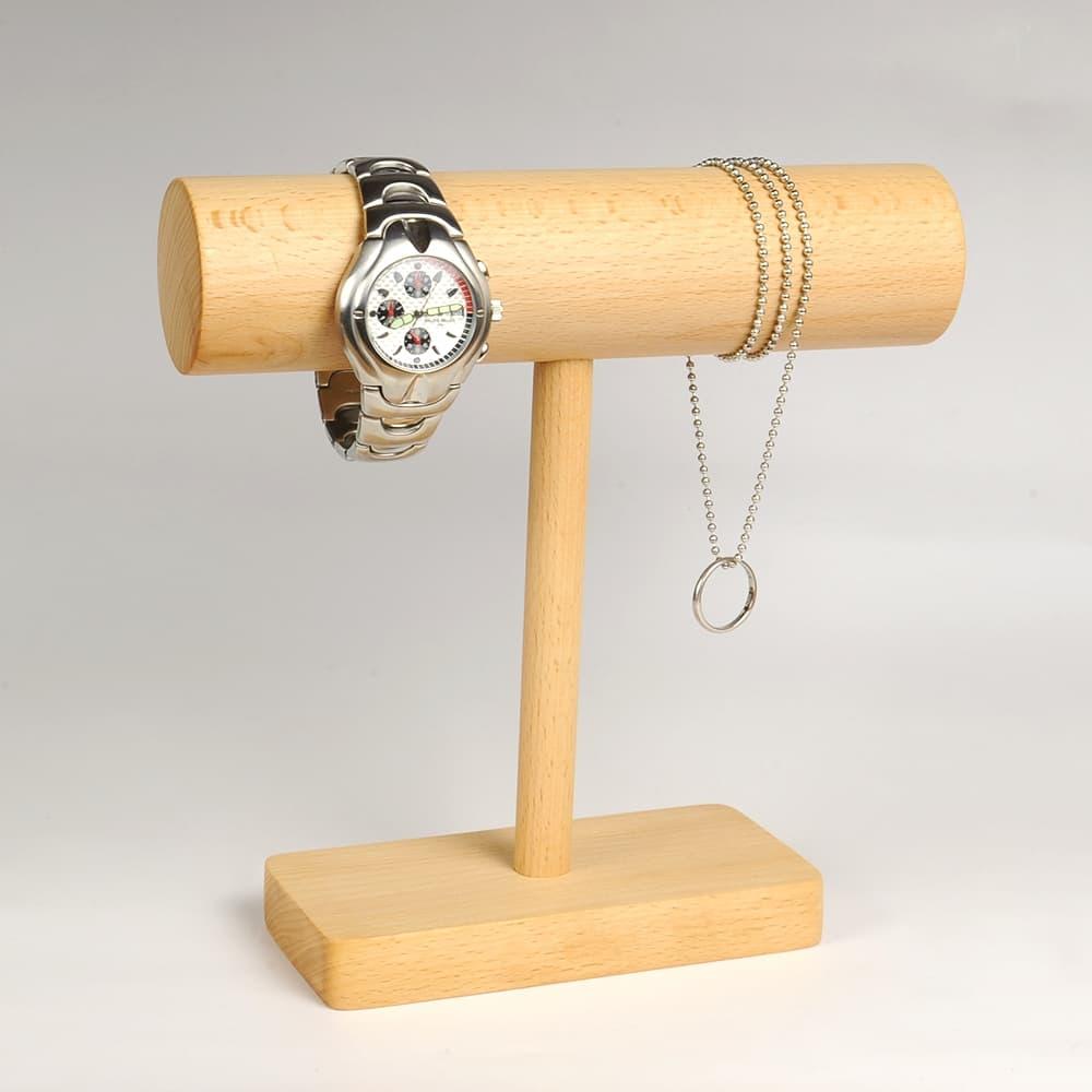 アクセサリースタンド 円筒型 ディスプレイ用品 木製