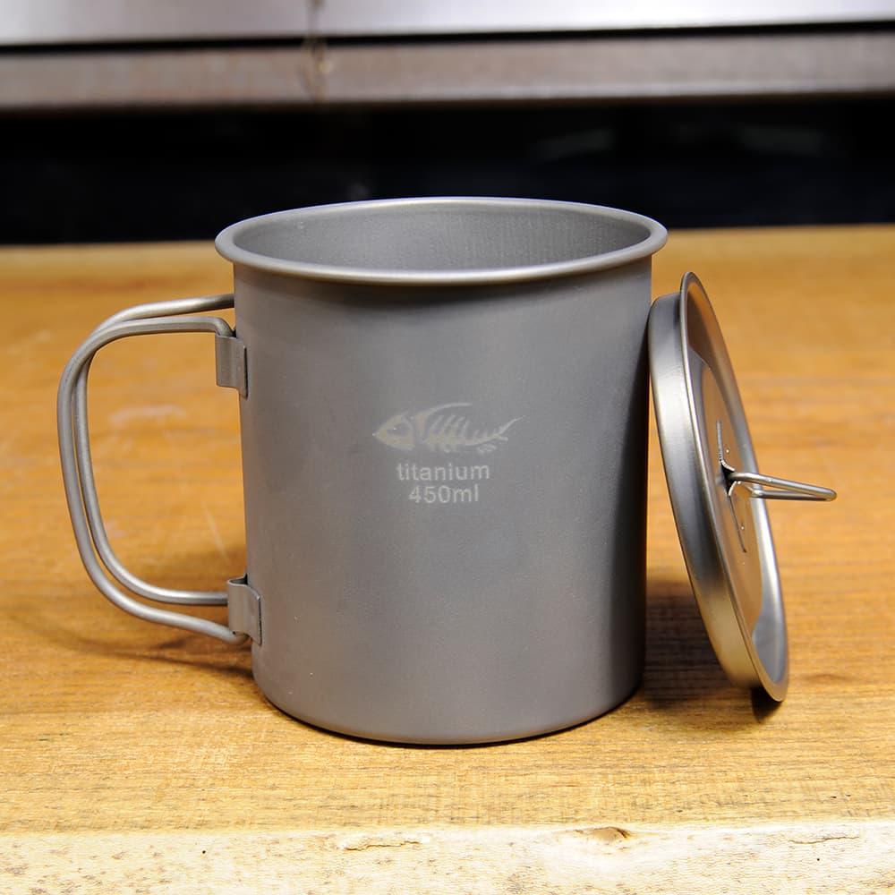 マグカップ 450ml チタン製 シングルマグ