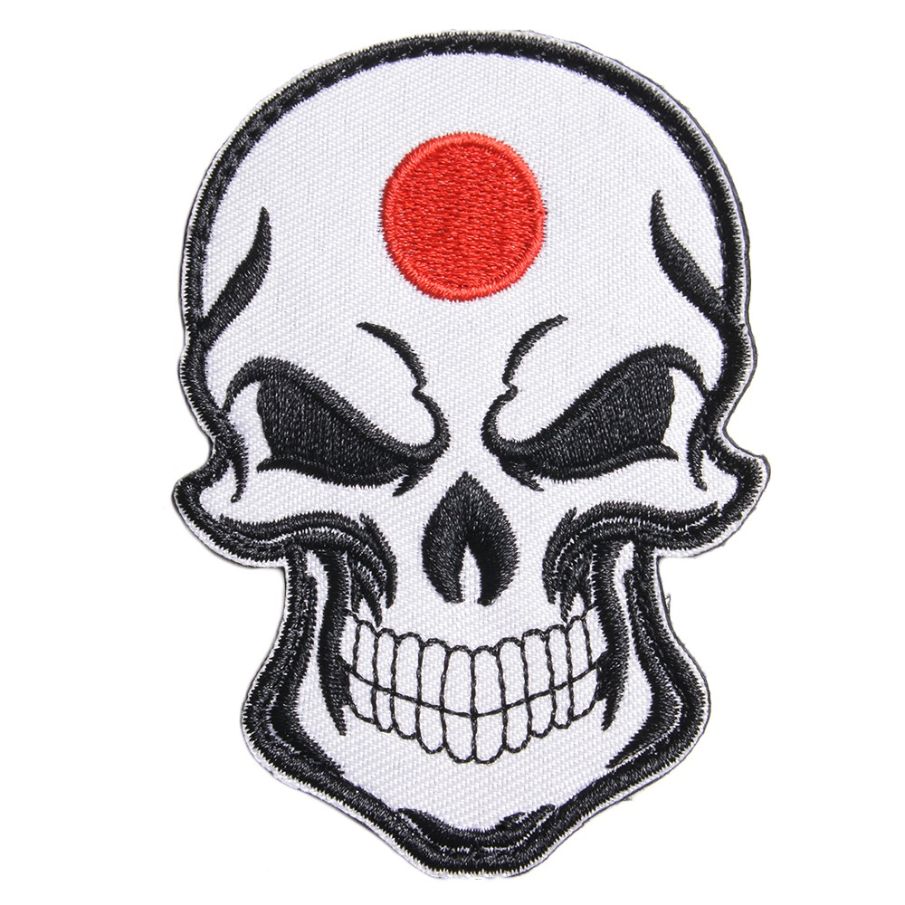 Military emblem scull Japanese flag Velcro embroidery skeleton skeleton  Japan national flag military patch applique badge badge badge epaulet badge