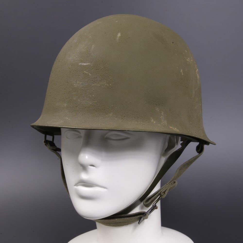 フランス軍放出品 M1951 スチールヘルメット 後期型 二層構造