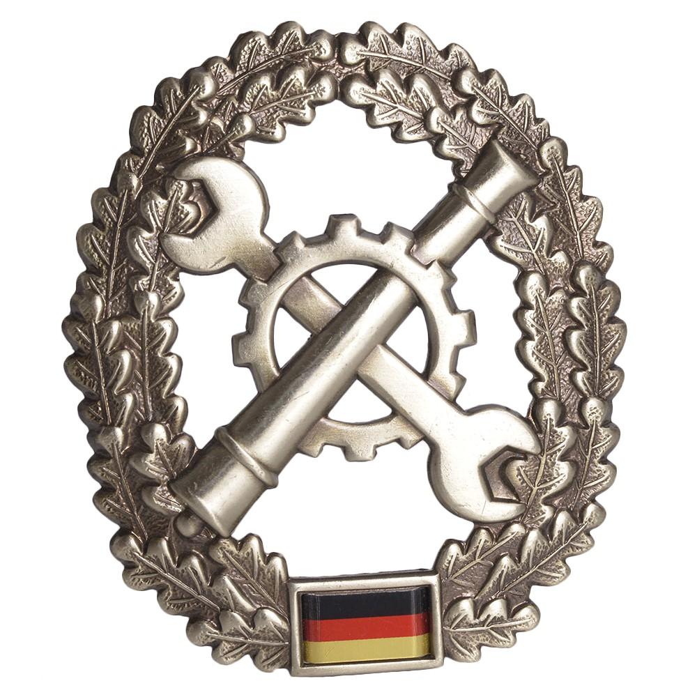 ドイツ軍放出品 記章 ピンバッジ 修理部隊 ベレー帽用