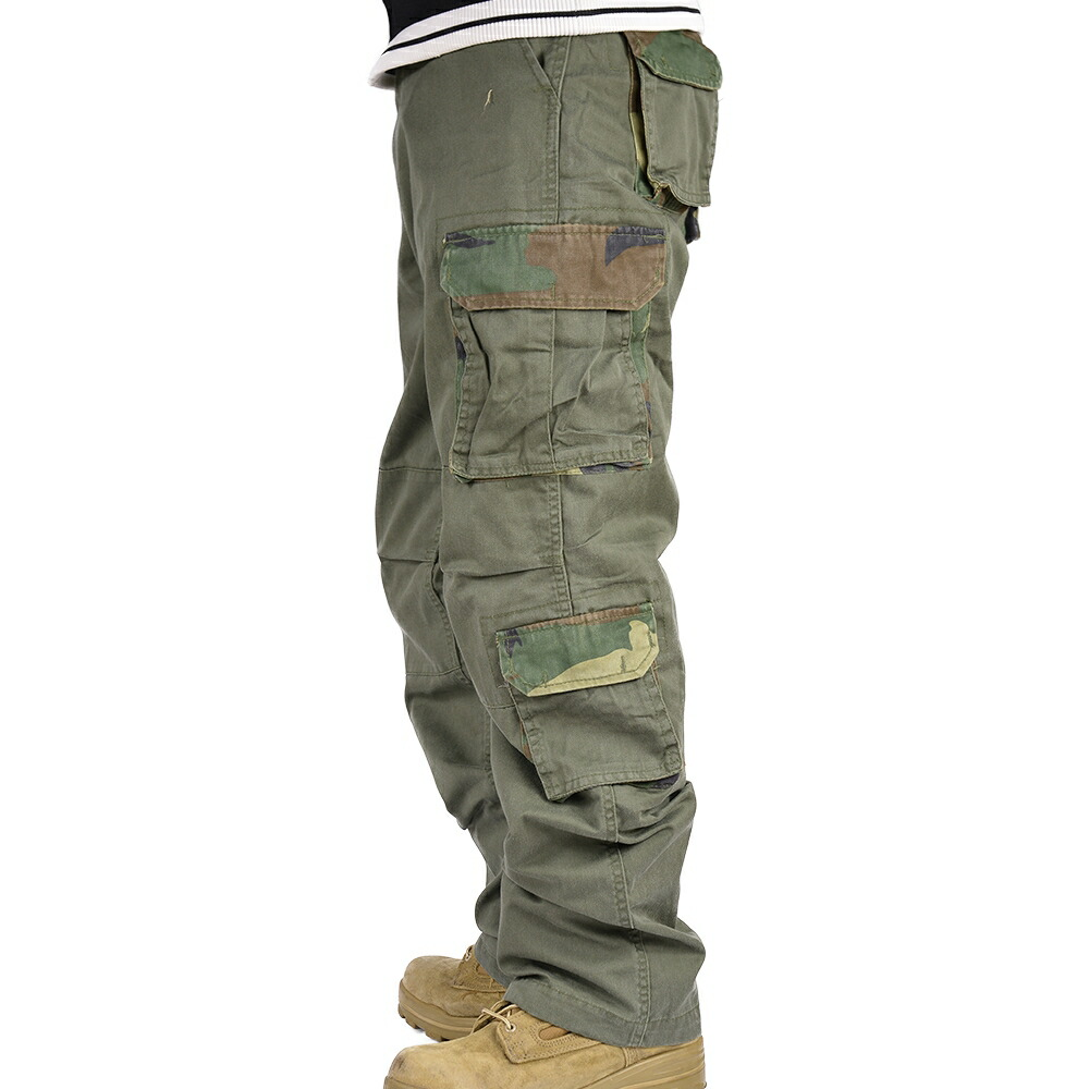 85771a273b Rothco pants vintage paratrooper [olive drab (some Woodland Camo) / S size]]