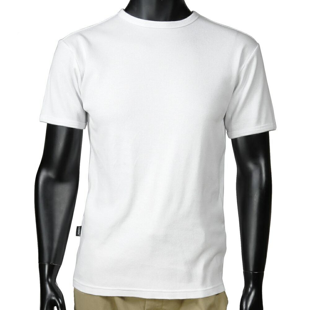 AVIREX Tシャツ 半袖 クルーネック ワッフル無地 デイリー