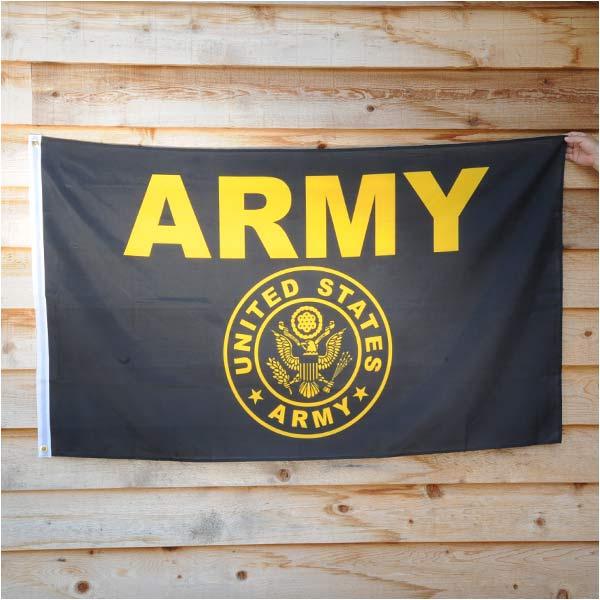 フラッグ U.S.ARMYフラッグ 89cm×156cm ブラック