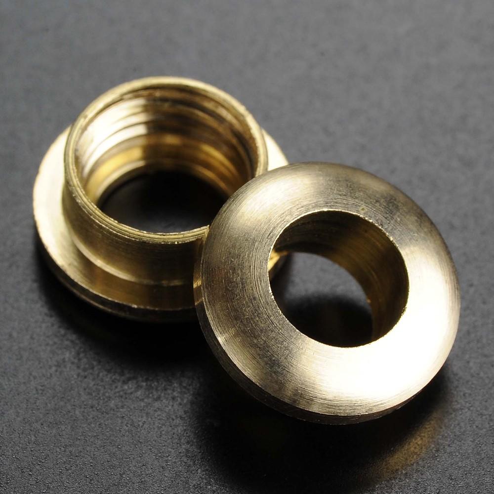 クラフトパーツ ネジ式ハトメ 真鍮