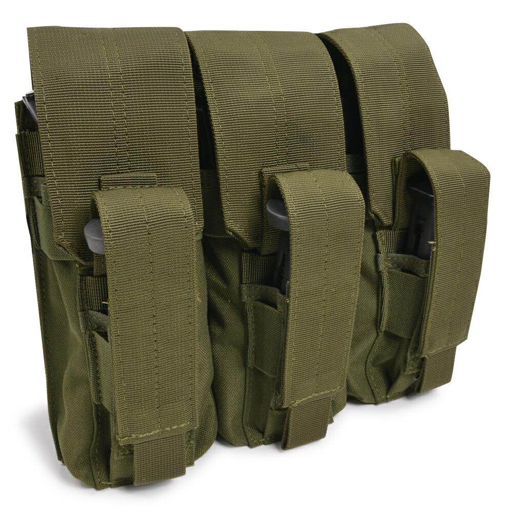 Condor MA72 Tactical MOLLE Modular Triple Kangaroo Rifle//Pistol Magazine Pouch