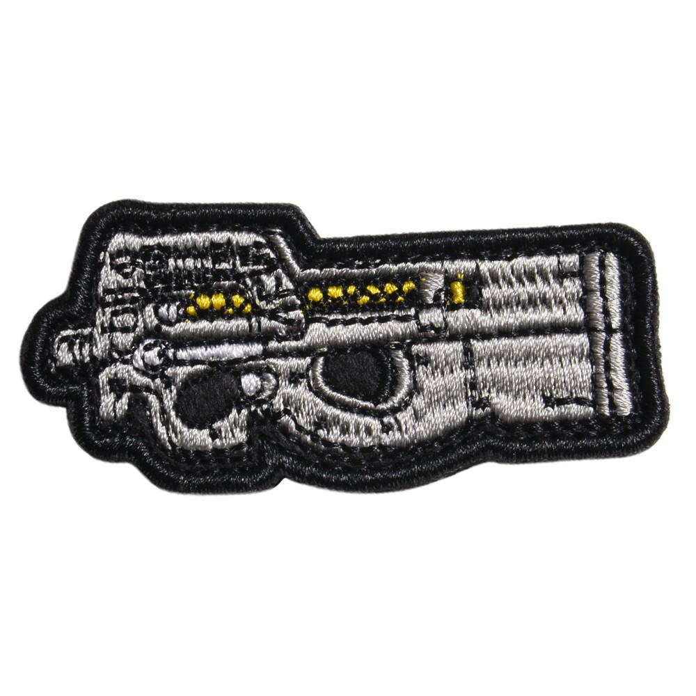 ミリタリーワッペン P90 サブマシンガン 刺繍 ベルクロ