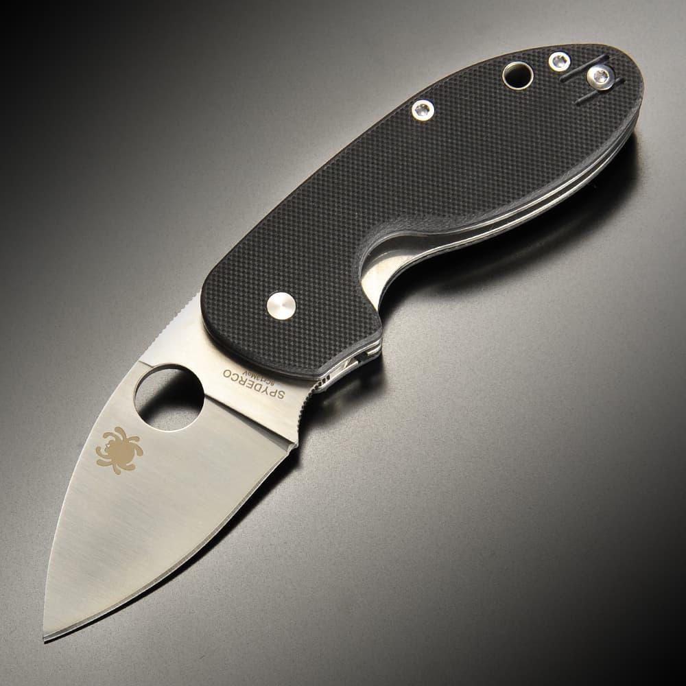 Spyderco 折りたたみナイフ INSISTENT 直刃 ライナーロック G-10 C246G