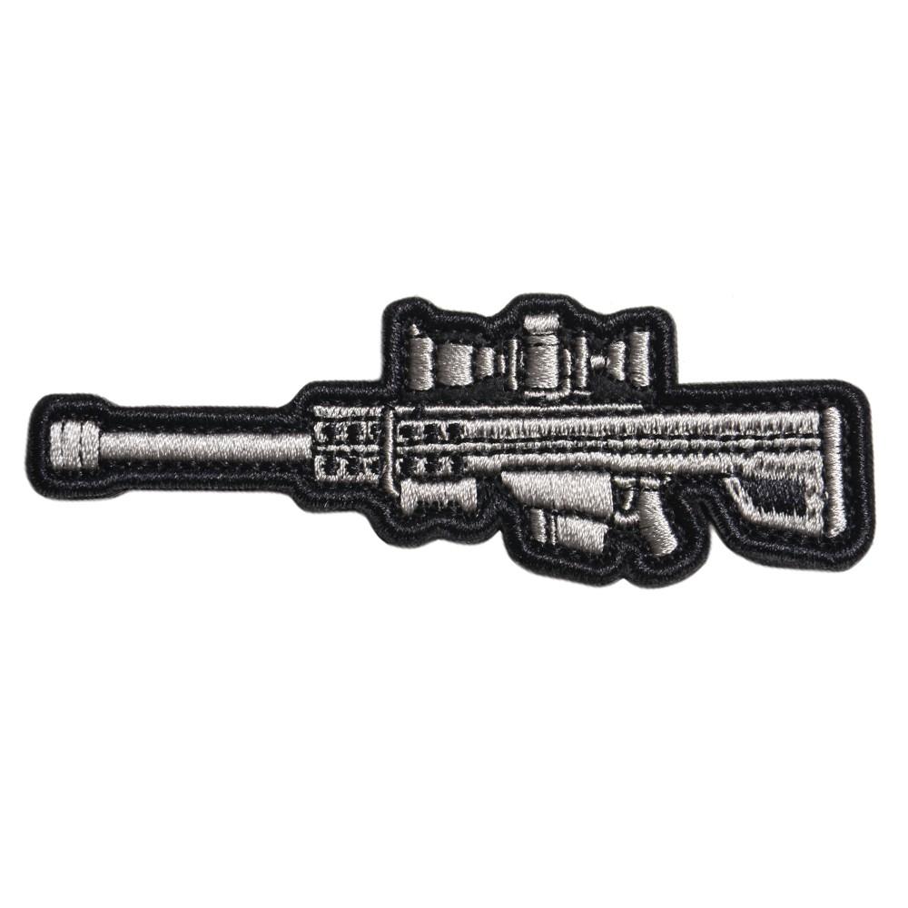 ミリタリーワッペン バレット M82 ライフル 刺繍 ベルクロ