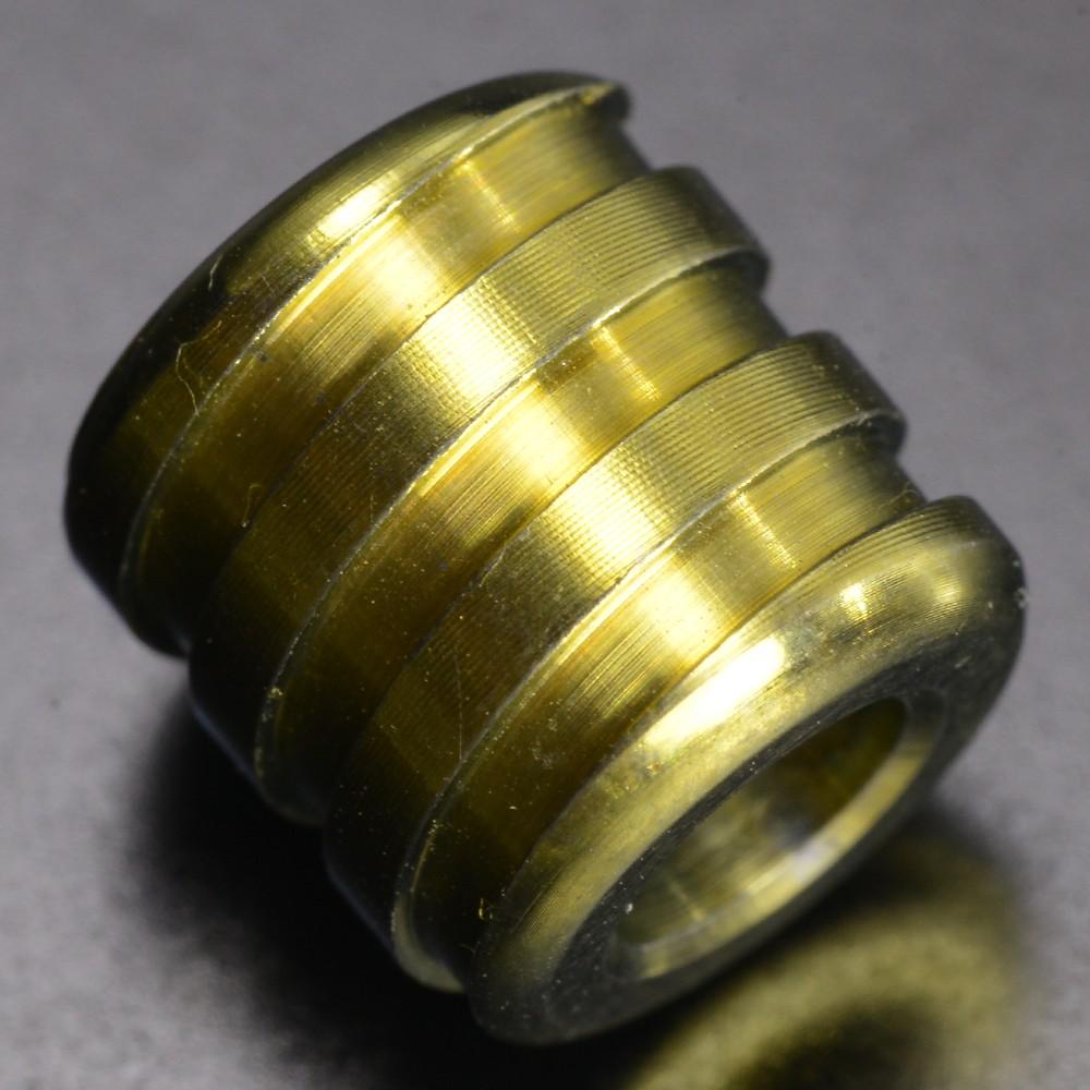チタンビーズ 円柱型 10mm 螺旋 ナイフストラップ用 パーツ