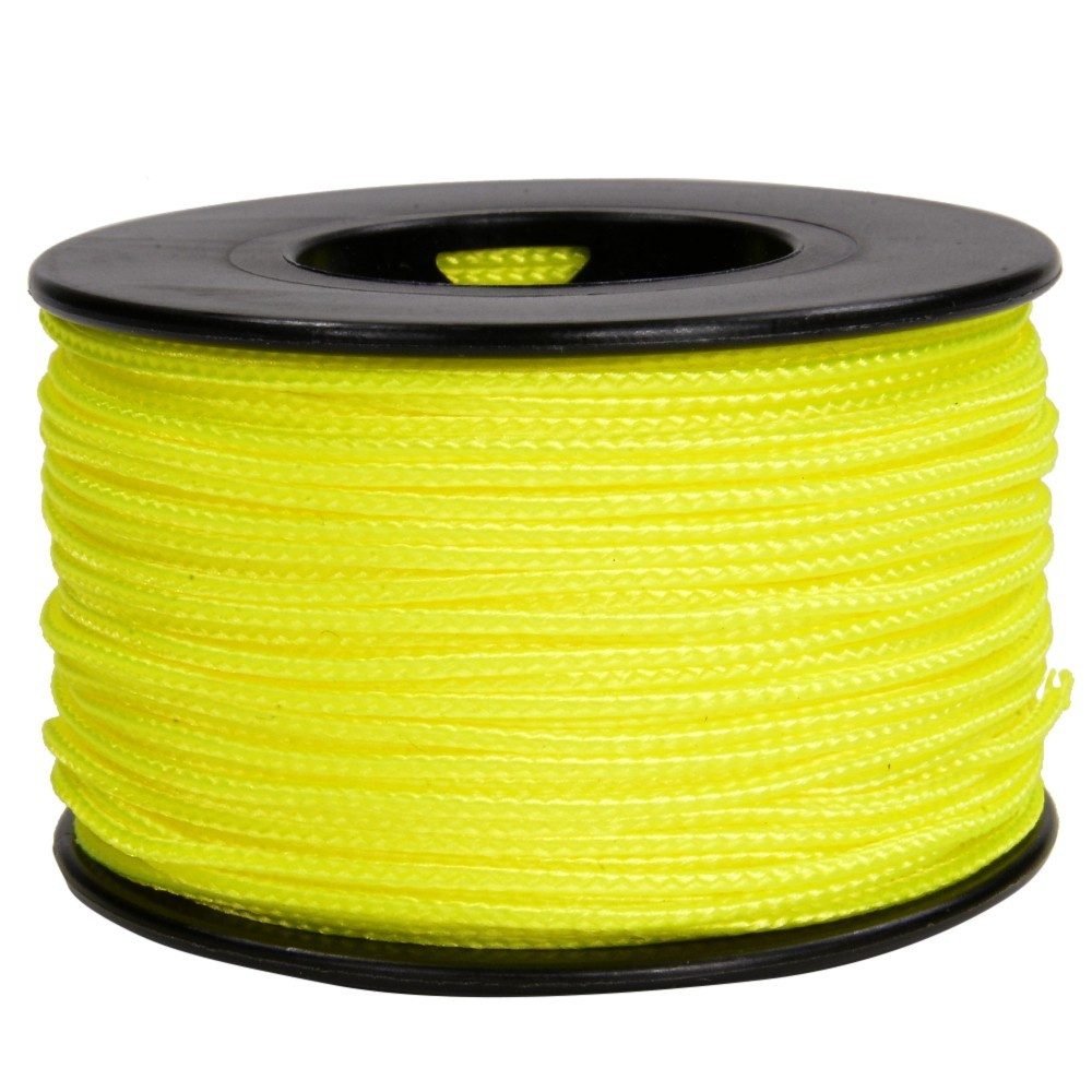 Made in the USA Micro Cord 1.18mm 125ft Nylon Rope Spool Neon Yellow