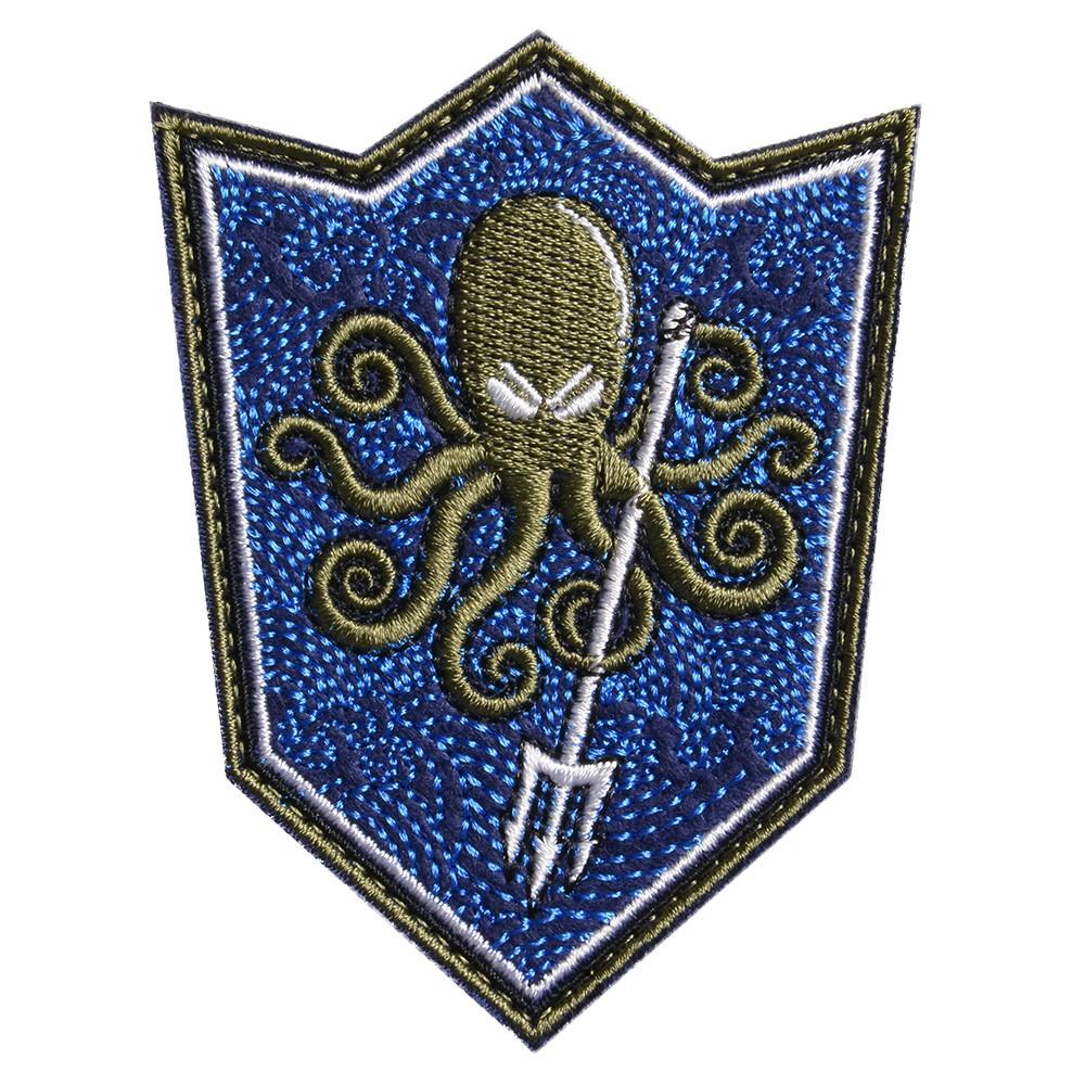 ミリタリーワッペン Octopus シールド型 ベルクロ 刺繍