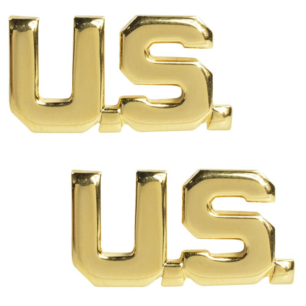 Rothco ピンバッジ U.S. ゴールド 2個入