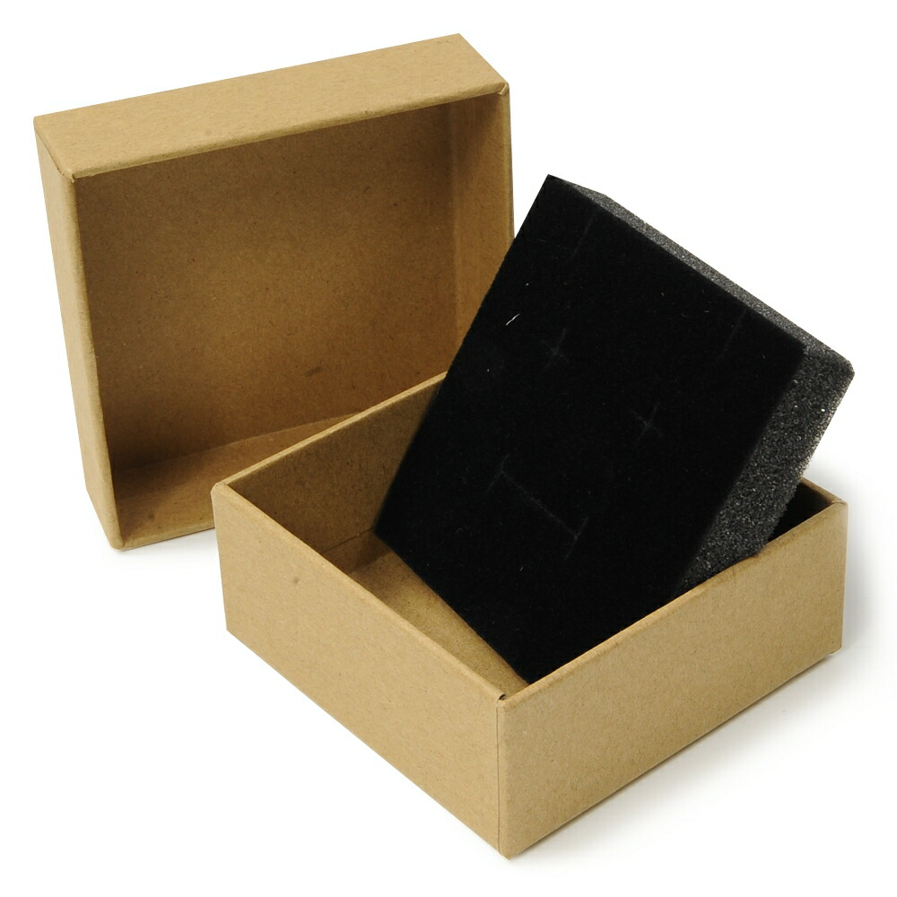 I Put A Gift Box And Store The Lapping Package Plain Fabric With The Box 8 8 3 5cm Accessories Case Brown Present Box Jewelry Box Cardboard Sponge