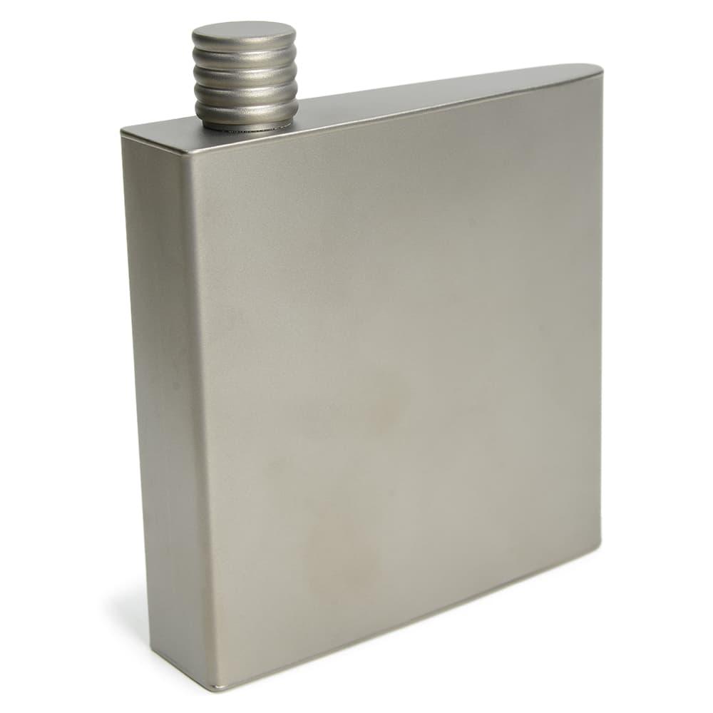 スキットル チタン製 小型水筒 ヒップフラスコ 容量175ml 収納袋付き
