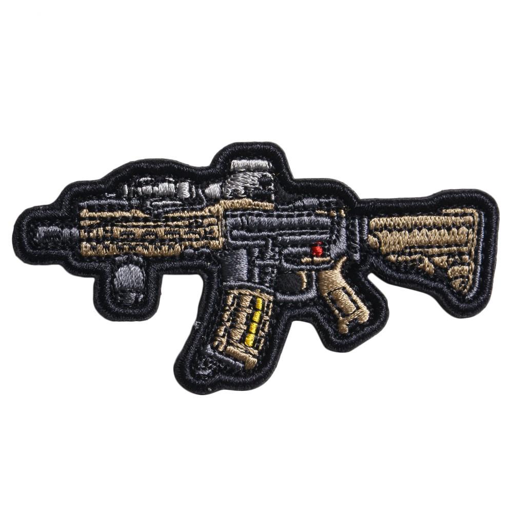 ミリタリーワッペン MK18 Mod1 ライフル 刺繍 ベルクロ