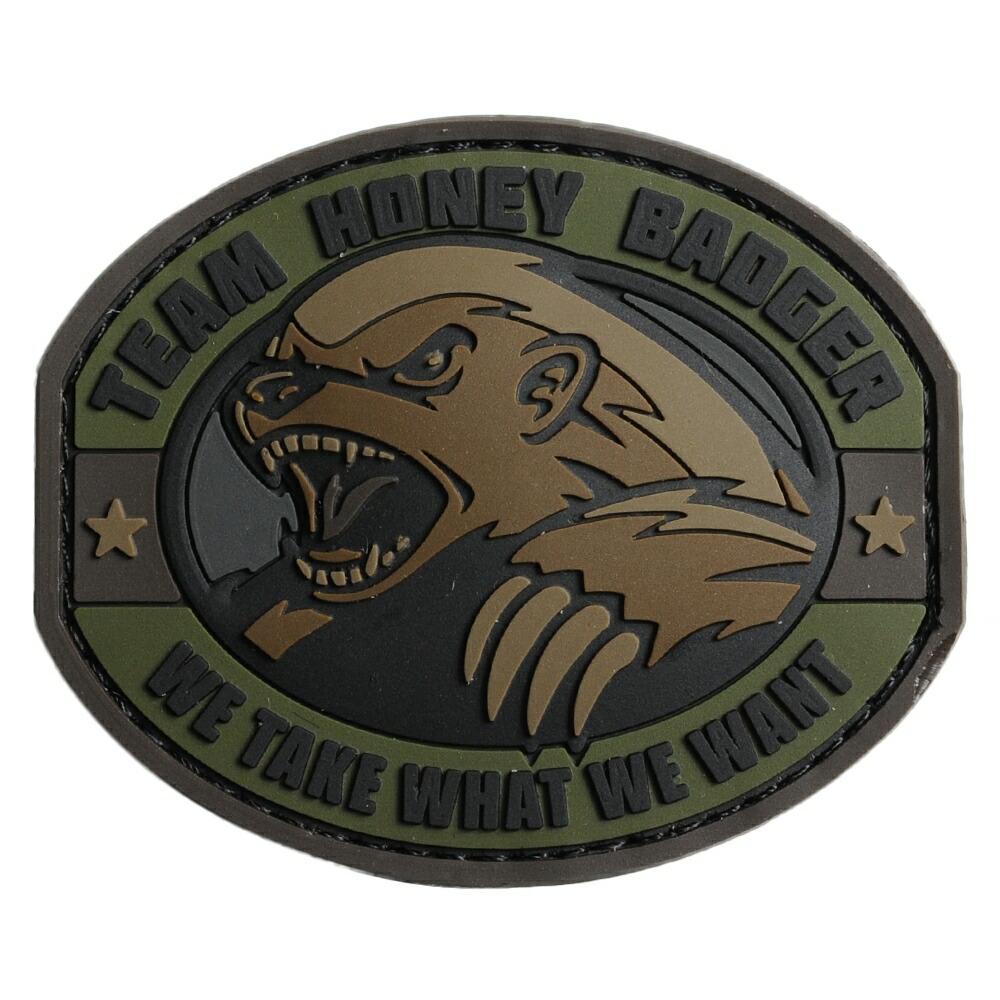 ミルスペックモンキー PVCパッチ Honery Badger ベルクロ