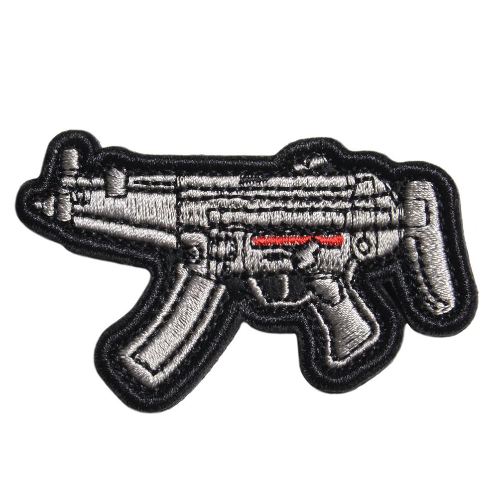 ミリタリーワッペン MP5 サブマシンガン 刺繍 ベルクロ