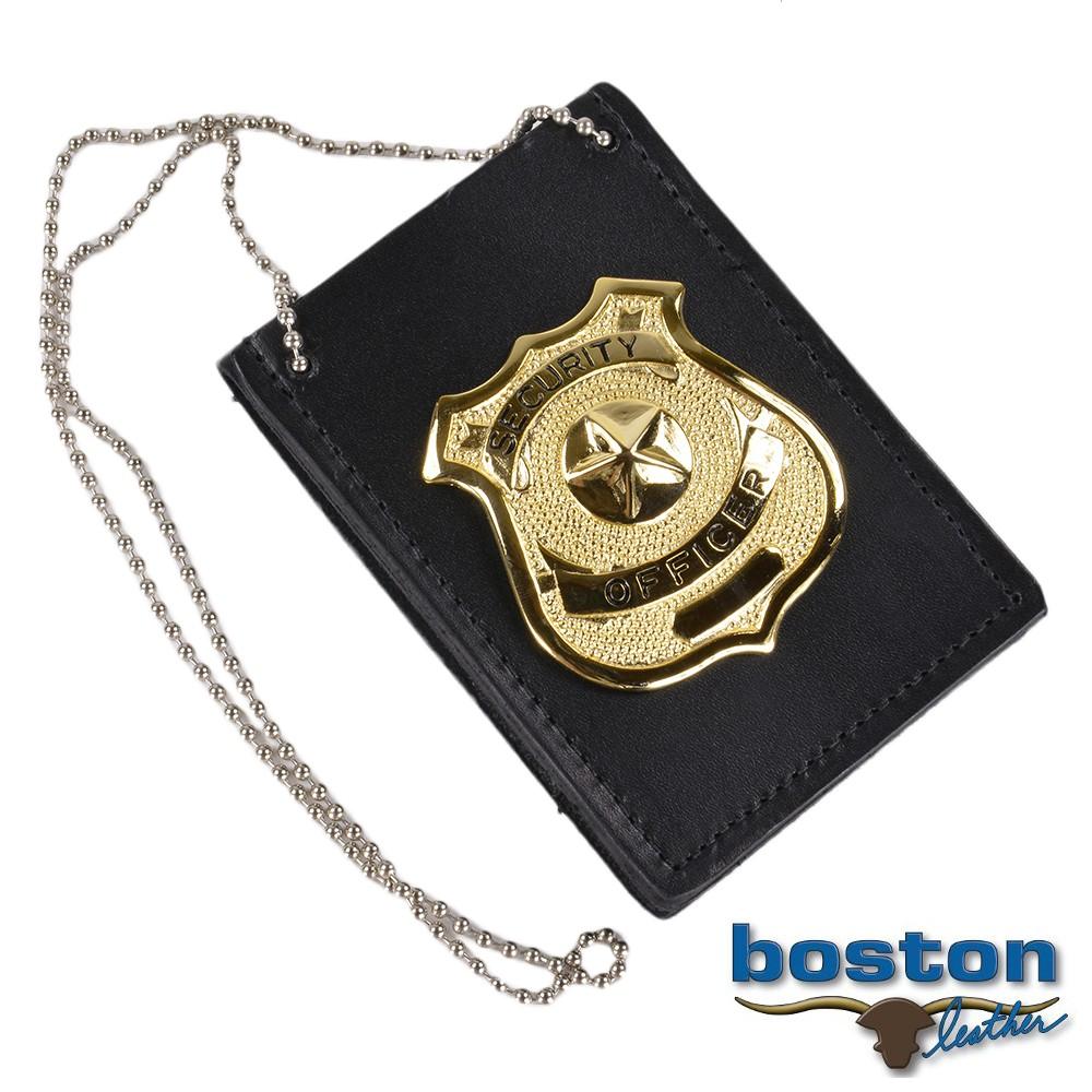 ボストンレザー ID&バッジホルダー 5845NPB1 ネックチェーン付
