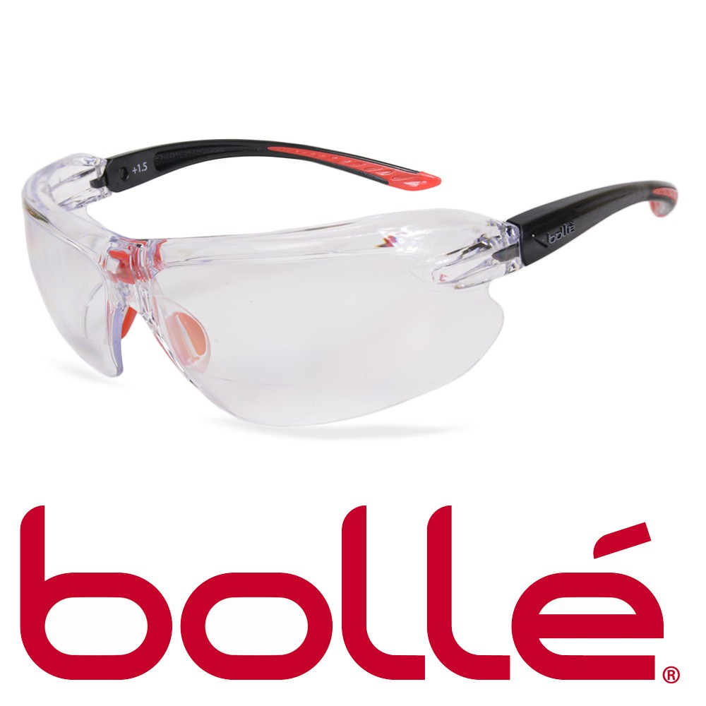 11c85c0693 Bolle (Chevrolet) w magnifying safety glasses IRI-s (IRIS) clear. Left and  right lenses on approximately 14 mm x 30 mm Loupe.